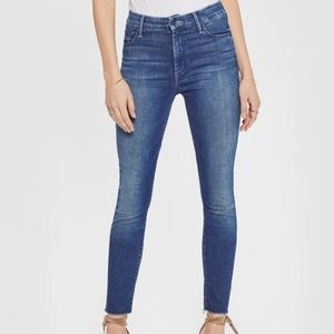 mother | high waisted looker ankle fray jeans 0542